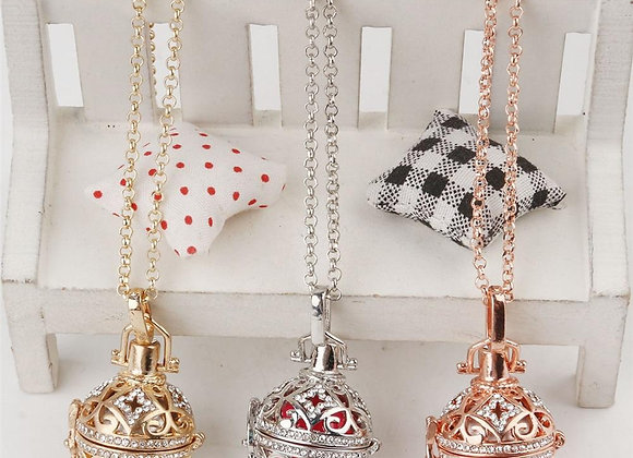 Fine Jewelry Lava Diffuser Necklaces Cage Pendants Chimes