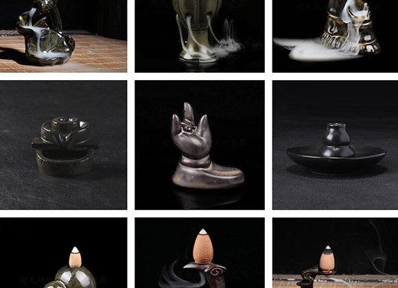 Mini Style Creative Ceramic Incense Holder  Backflow holder
