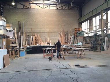 scene et decor atelier de fabrication