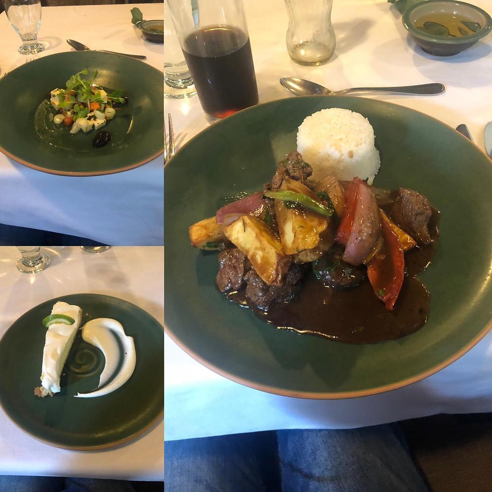 Almoço Machu Picchu