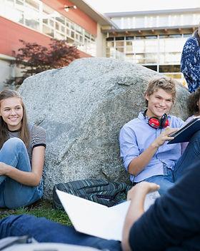 Studenten op een Break