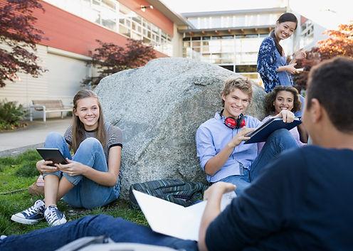 Students on a Break