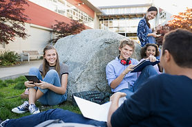 Students on a Break