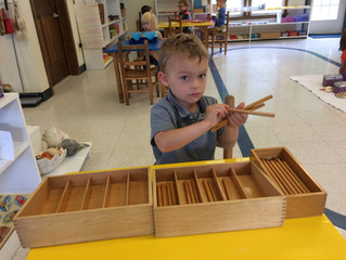 Montessori Lesson - Spindle Box