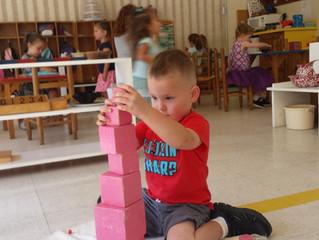 Montessori Lesson - Pink Tower