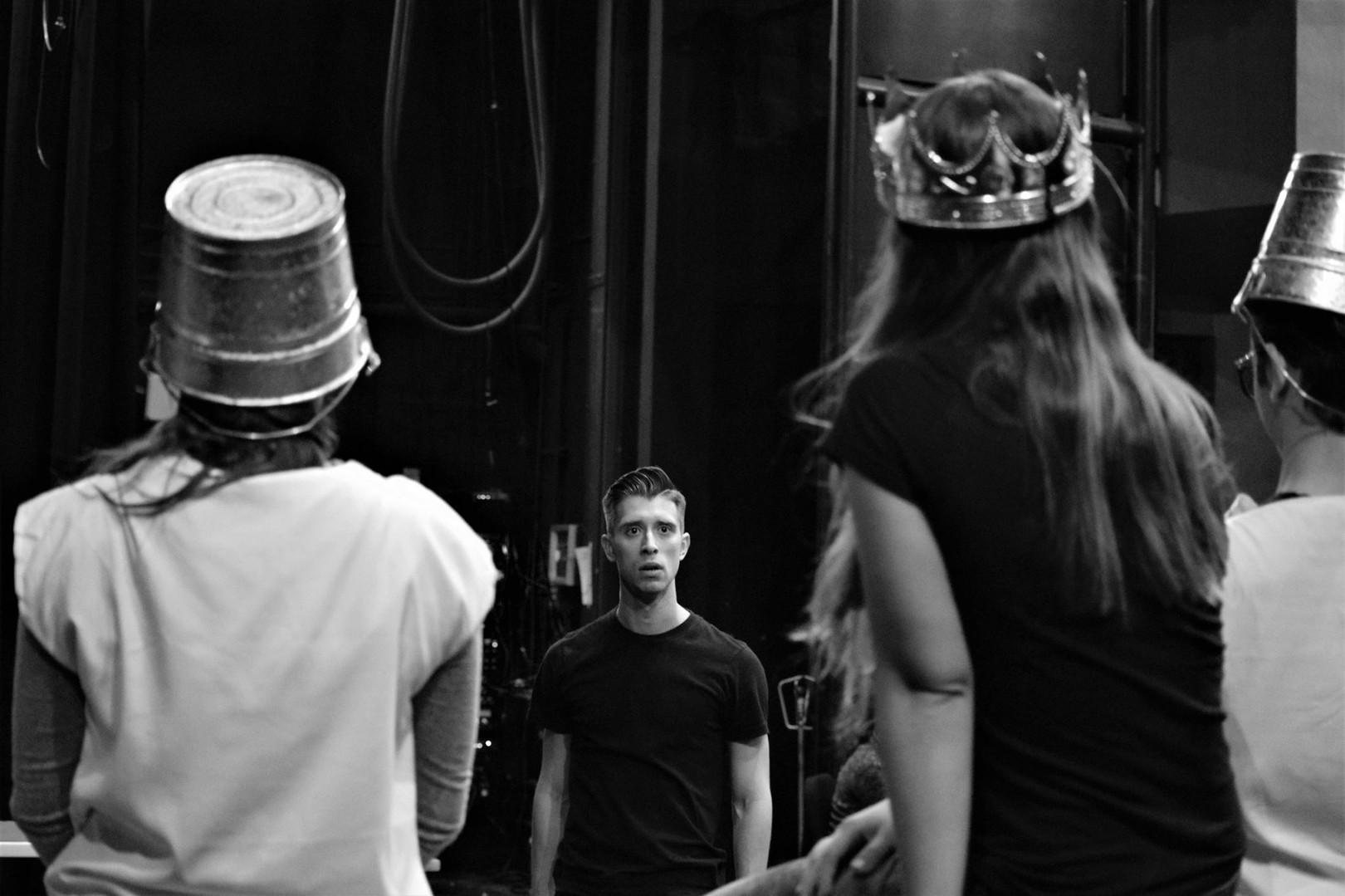 Ubu Rex Rehearsal Dir: Michael Yawney FIU Theatre PC: Ivan Lopez