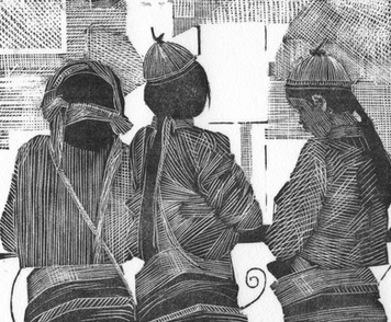 Three Shan Girls, Burma 1985