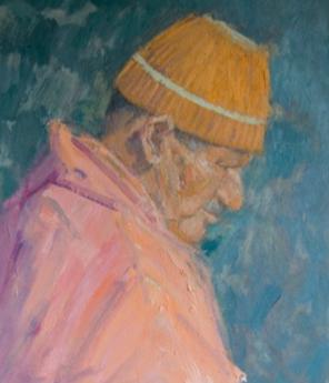 Man in an Orange Wooly Hat