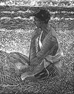 Seated Sri Lankan Fisherman