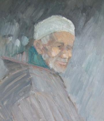 Berber in a White Hat