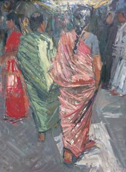 Walking Figures, Mysore Market