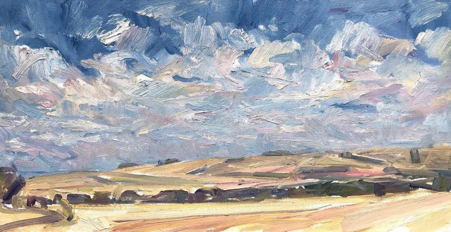 Evening Clouds over the Ridgeway