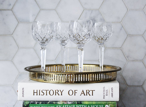 Vintage Waterford Lismore Balloon Wine Glasses