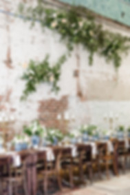 Martha Stewart Weddings intimate warehouse wedding