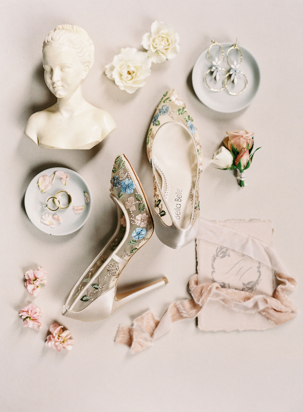 Bridgerton Wedding stationary set, bust, Bella belle heels