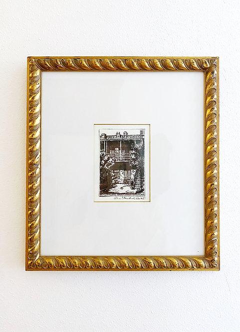Small Vintage Ritz Carlton NOLA Wall Decor - Patio of John Legacy