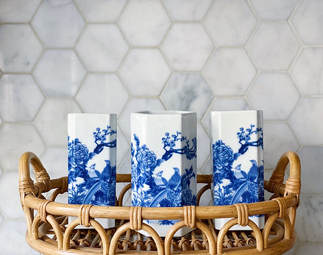 Blue & White Square Vase