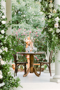 Elms Mansion, gazebo, intimate wedding, seated dinner, House of Modern Vintage NOLA,