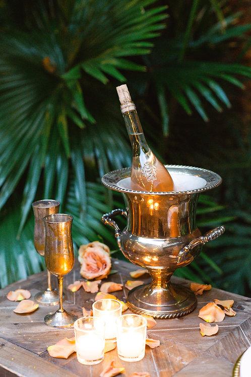 Vintage Silver Champagne Flutes