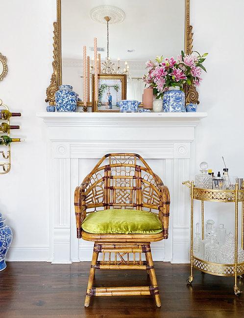 Mid-Century Modern Bamboo Chair