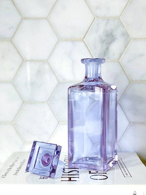Vintage Crystal Lilac Decanter