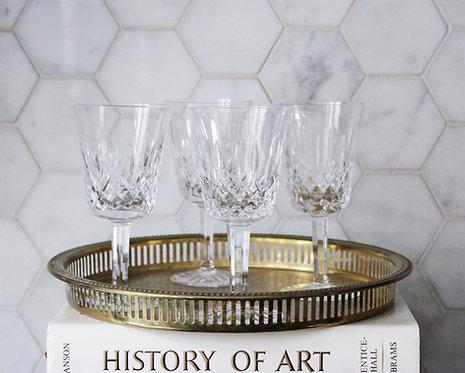 Vintage Waterford Claret Glasses
