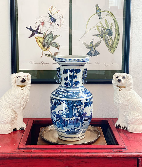 Large Chinoiserie Vase