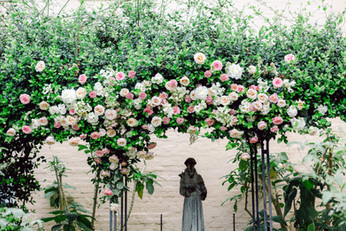Beauregard Keyes House, New Orleans, Wedding, Flower, Ceremony Arch, Leaf + Petal NOLA