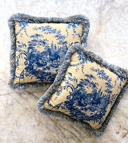 Custom Toile Pillow Set