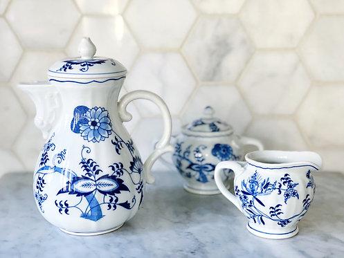 Blue Danube Coffee/Tea Pot & Set