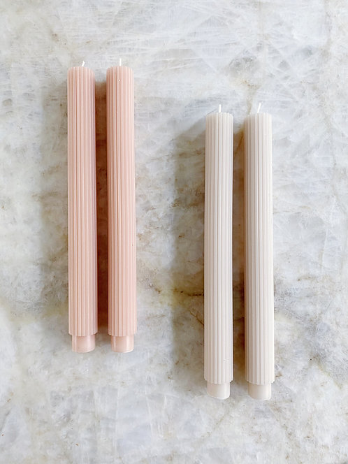 Fancy Taper Candles - The Floral Society