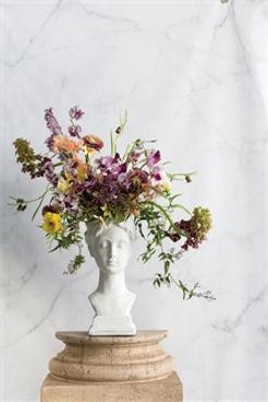 grecian bust vase pot, house of modern vintage, new orleans