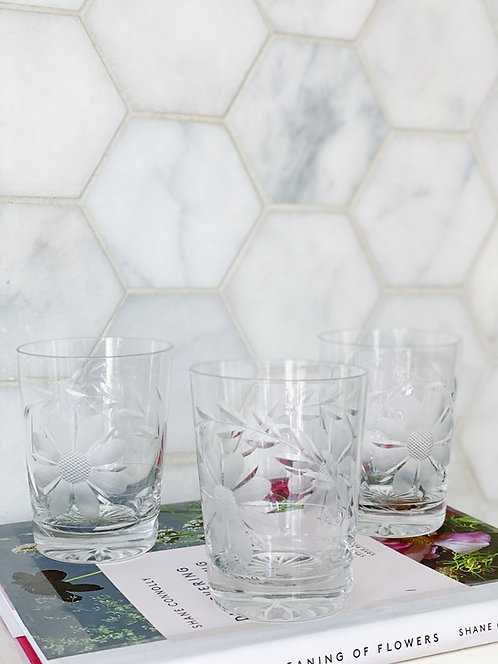 American Brilliant Cut Glass Tumblers