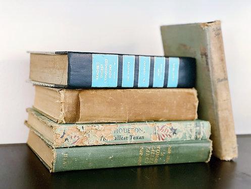 Stack of Antique/Vintage Books - Set of 5