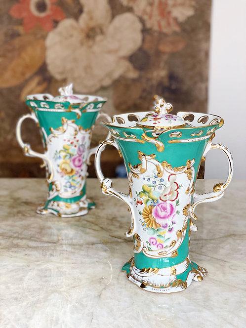 Pair of Antique Sevres Urns
