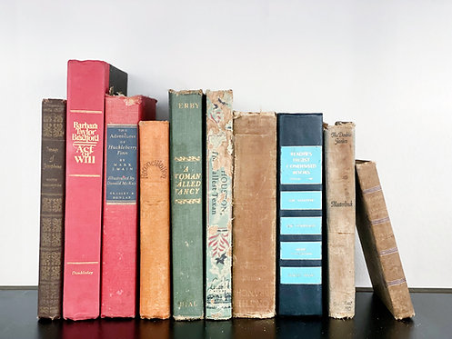 Stack of Antique/Vintage Books - Set of 10