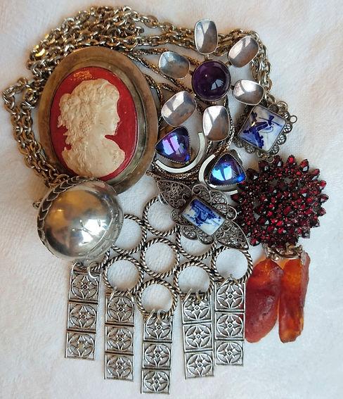 smycken antika vintage
