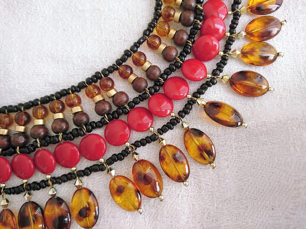 detalj av kraghalsband av egyptisk typ