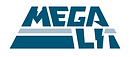 Megalit LogoType wordmark megalith mesa table pyramid logo lightning bolt M L-I-T
