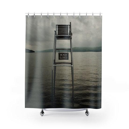 Beach Closed Shower Curtain
