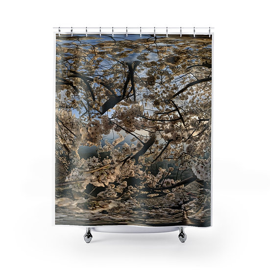Cherry Blossoms Afternoon Glow Shower Curtain