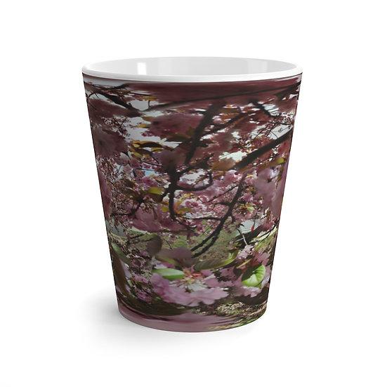 Pink Cherry Blossoms in Bloom 12 oz Latte Mug