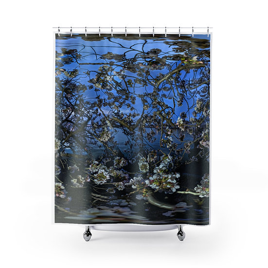 Cherry Blossoms at Dusk Shower Curtain