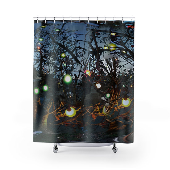 Holiday Lights at Dusk Shower Curtain