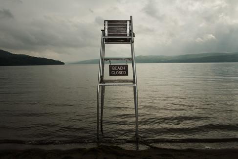 Beach Closed, Otsego Lake, New York