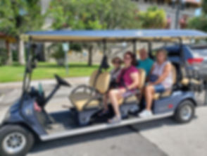 St. Augustine Gold Tours Electric Cart
