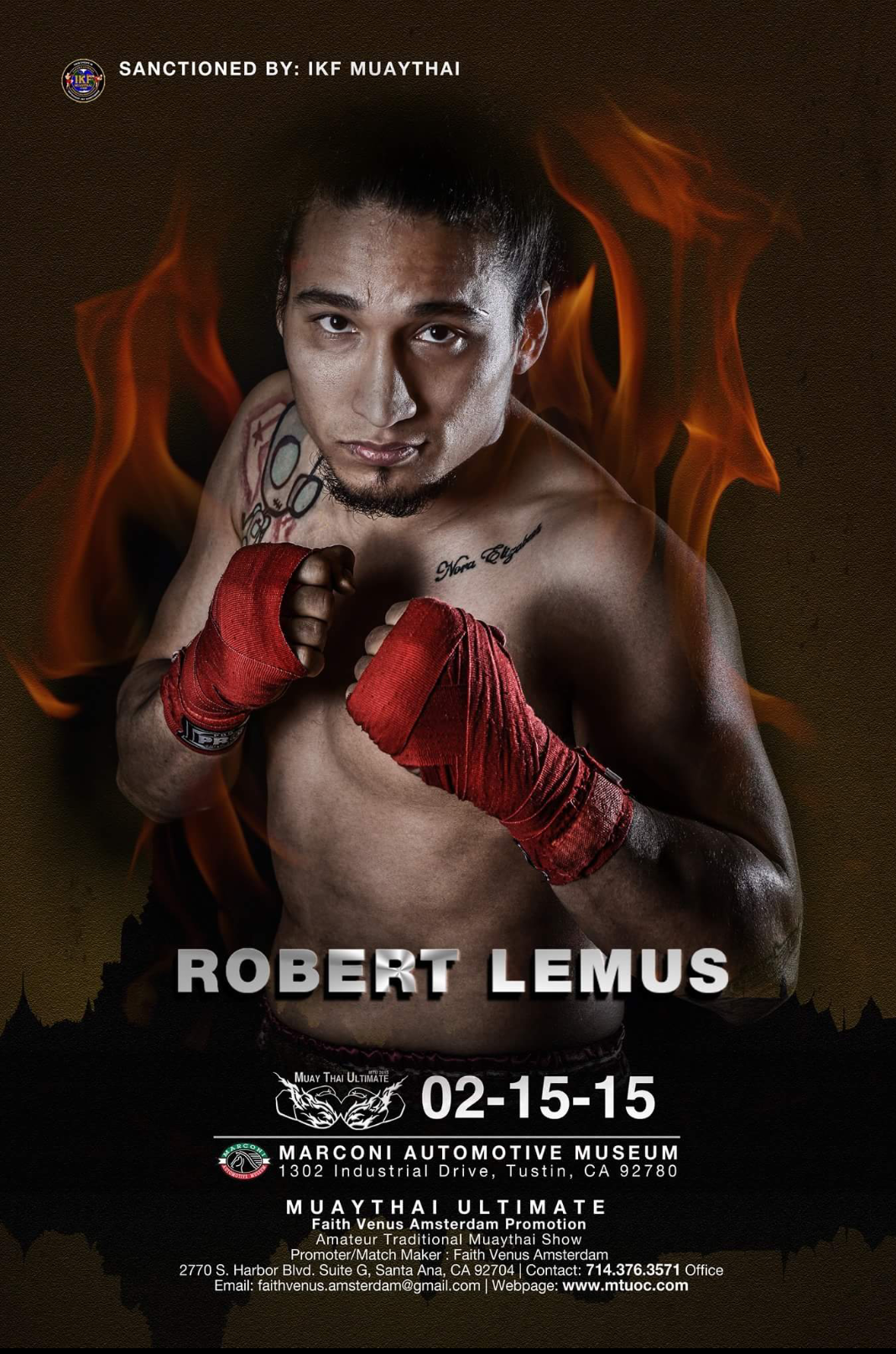 Robert Lemus IKF Title Fight Poster