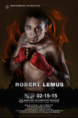 Robert Lemus IKF Title Fight Poster