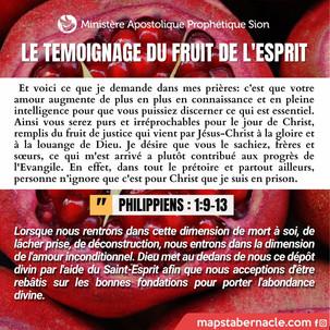 Le témoigne du fruit de l'Esprit ✨