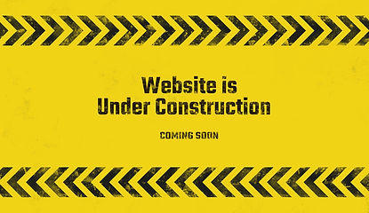 yellow warning sign. Under construction